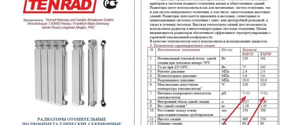 Чугунные радиаторы отопления и их технические характеристики