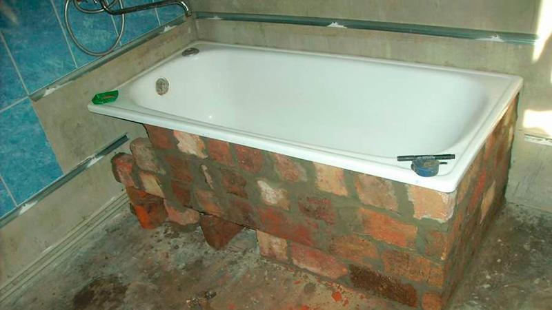 Как правильно установить ванну - способы монтажа, сборка и видео
