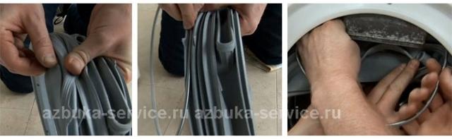 Как надеть резинку на барабан стиральной машины? 4 причины износа манжеты люка