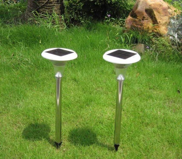 Газонные светильники на солнечных батареях: устройство, как выбрать + нюансы монтажа