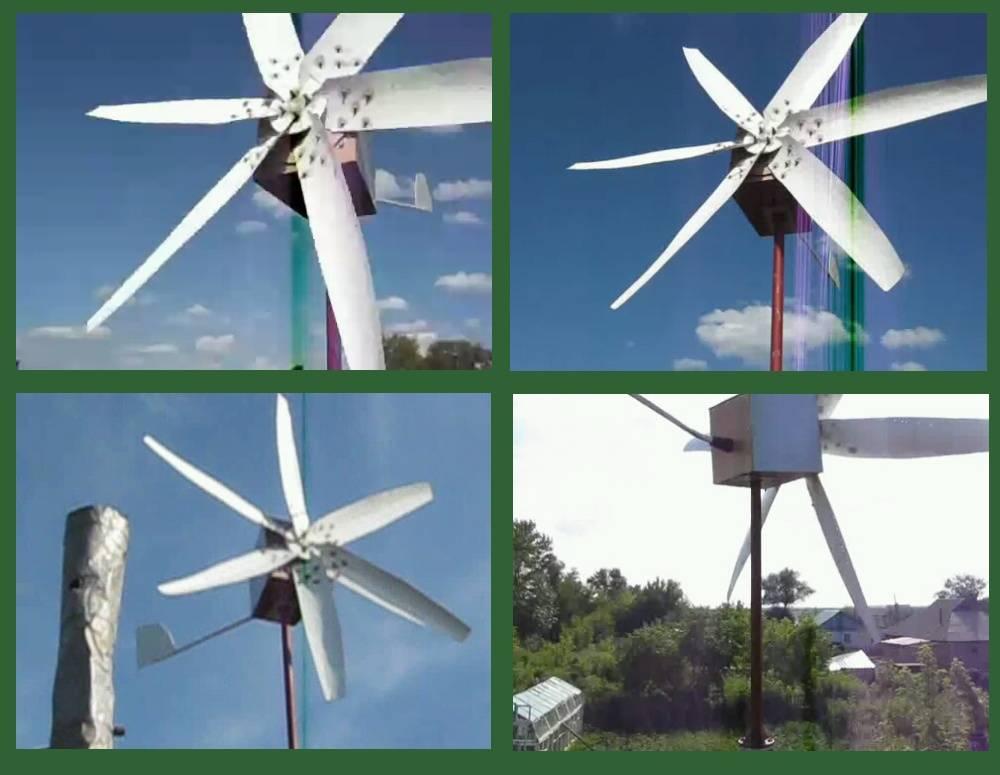 Ветрогенераторы с вертикальной осью вращения - российского производства, своими руками