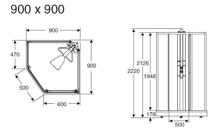 Обзор душевых кабин: размеры и описание особенностей