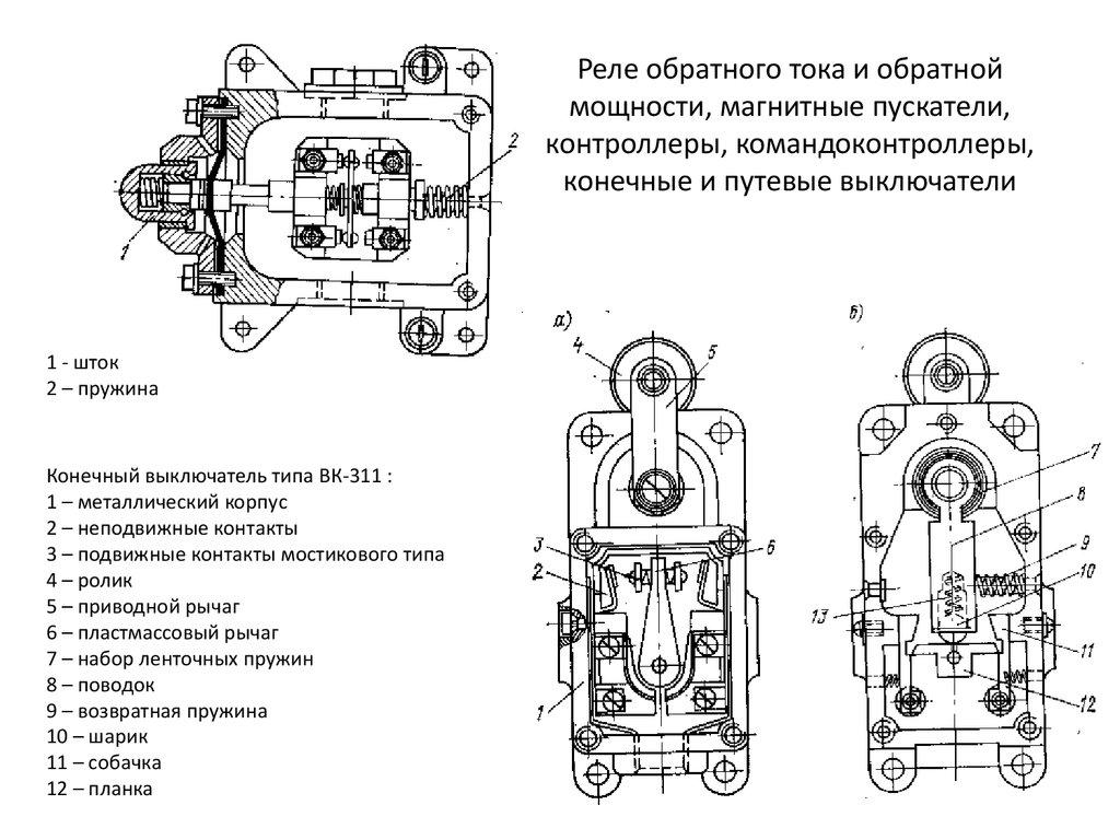 Концевой выключатель: устройство прибора и принцип действия