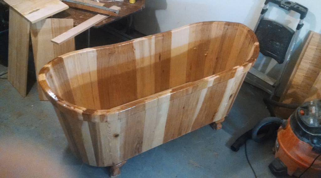 Деревянная ванна своими руками — видео инструкция и фото