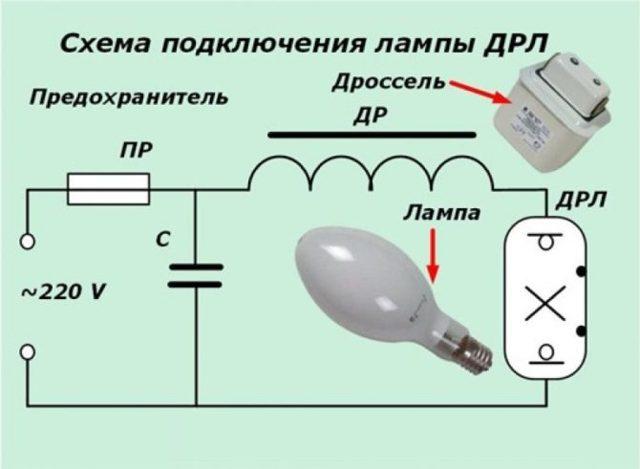 Лампы дрл: конструкция и принцип работы газоразрядной лампочки - точка j