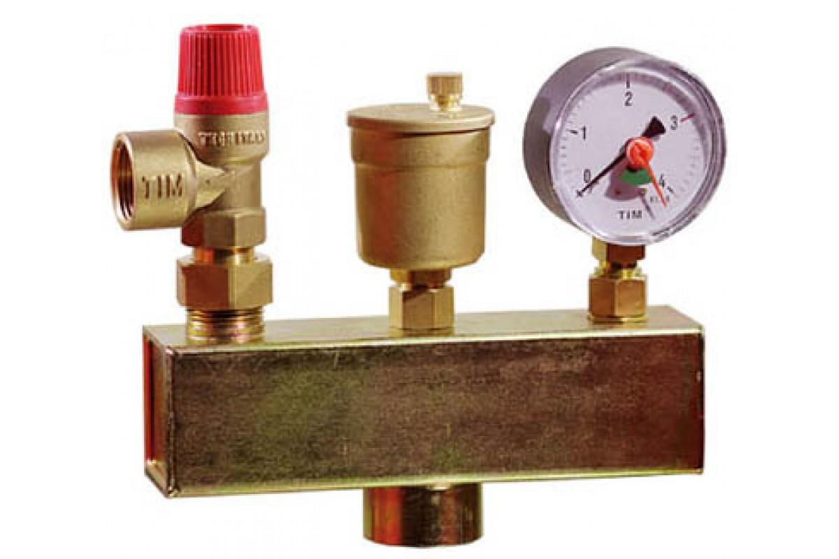 Группа безопасности в системе отопления - метод установки и цены