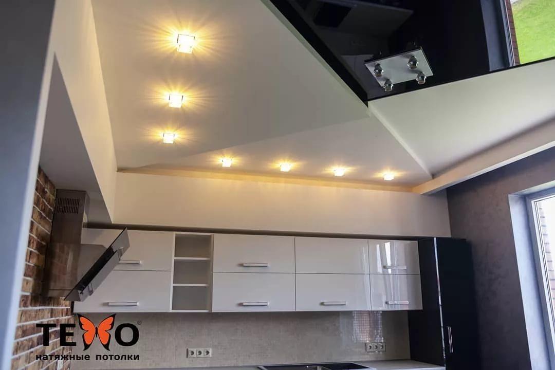 Натяжной потолок на кухне - отзывы и недостатки (75 фото): есть ли проблемы с сатиновым потолком