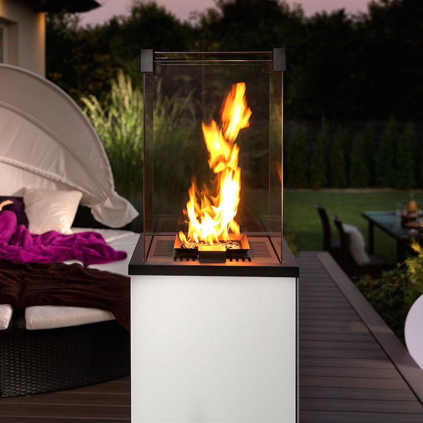 Газовый камин для квартиры без дымохода, общие принципы работы прибора