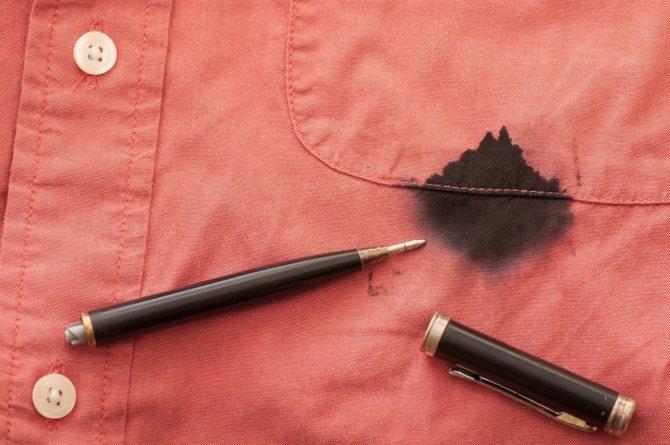 Как отстирать ручку с куртки