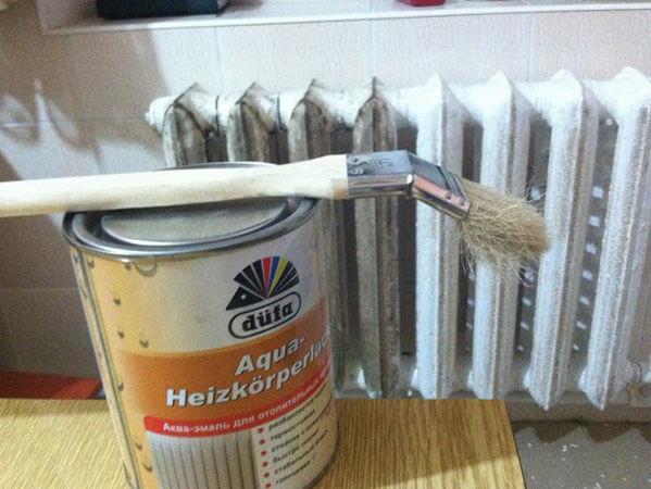 Краска для радиаторов отопления: чем красить