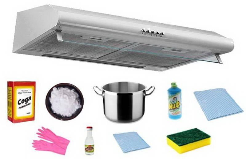 Как легко очистить фильтр вытяжки от жира в домашних условиях