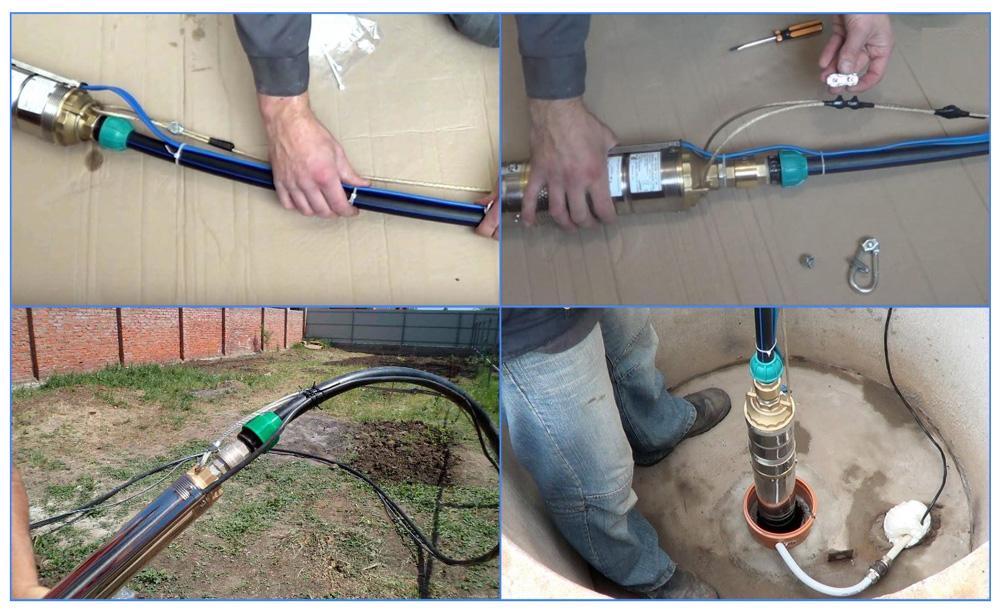Замена насоса в скважине: достаем старый и ставим новый насос - точка j