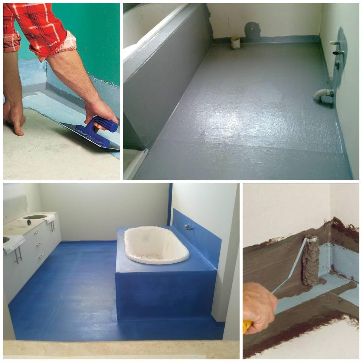 Самостоятельная гидроизоляция ванной комнаты
