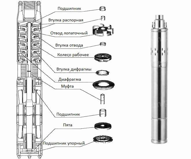 Модельный ряд насосов фирмы «водолей»