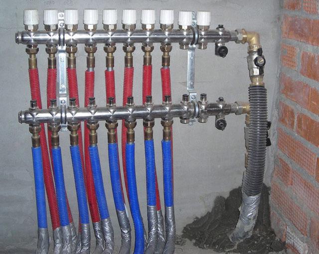 Подключение коллектора отопления, схема монтажа, установки, регулировка, настройка без расходомера, как отрегулировать тепло