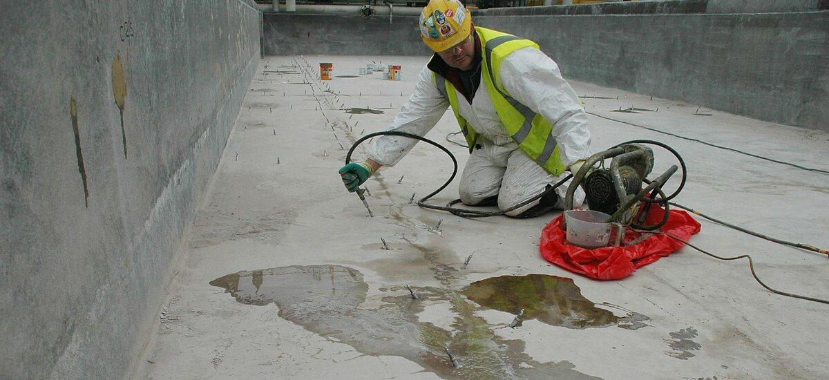 Самостоятельная заделка трещин и дырок в бетоне