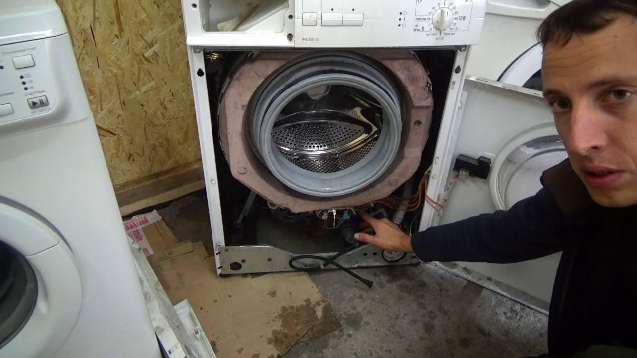 Стиральная машина набирает воду и сразу сливает: чиним своими руками