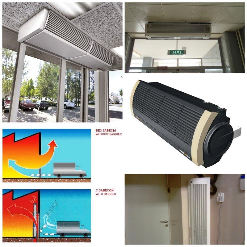 Тепловая завеса на входную дверь: как выбрать отсекатель холодного воздуха