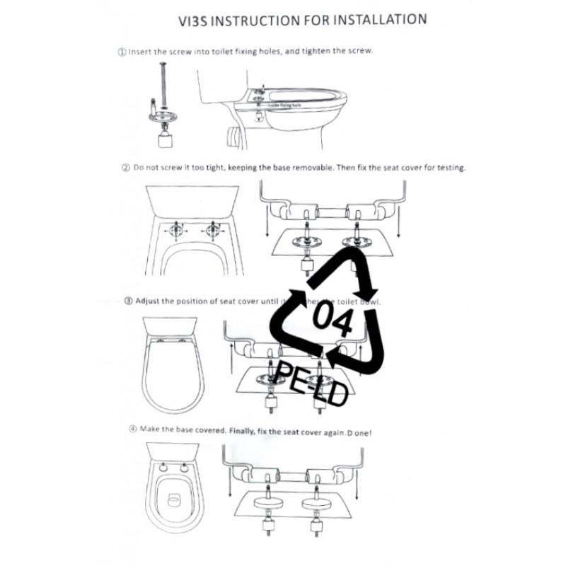 Порядок установки и крепления крышки сиденья к унитазу