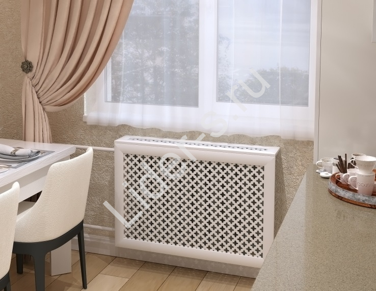 Виды декоративных экранов для батарей отопления по конфигурации и материалу изготовления