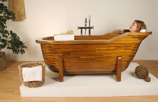 Деревянная ванна: недостатки и достоинства, уход, фото в интерьере, ванна из дерева своими руками, видео » интер-ер.ру