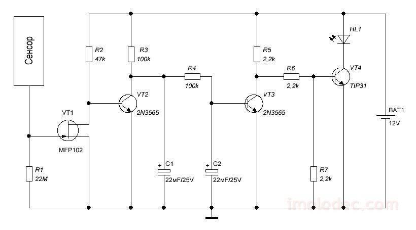Как собрать сенсорный выключатель своими руками: описание и схема сборки - точка j