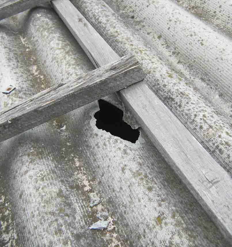 Ремонт шиферной крыши, дефекты и способы их обнаружения, ремонтные работы