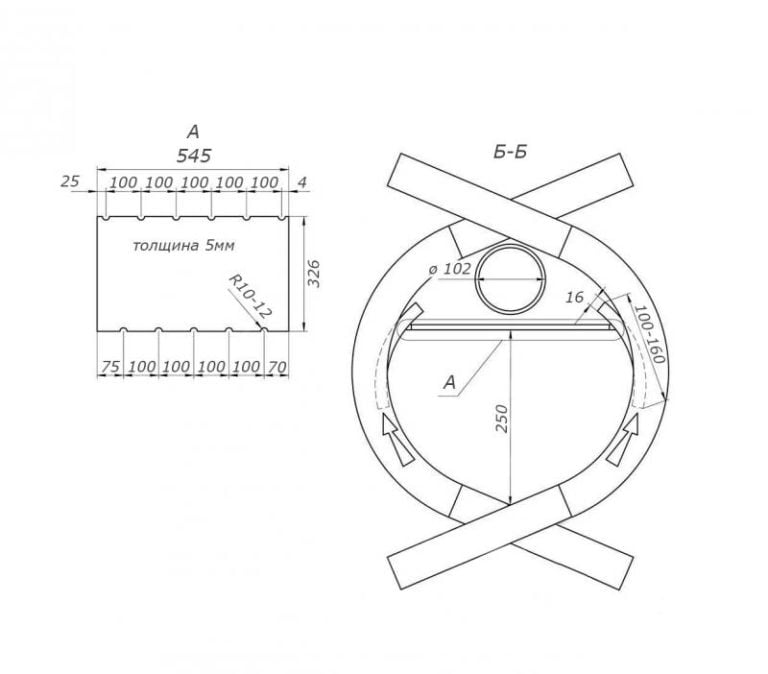 «булерьян» своими руками - как собрать печь длительного горения, чертеж, устройство + пошаговая схема сборки котла
