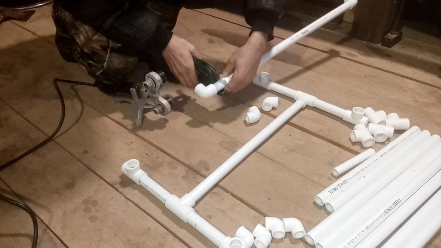 Ширма из пластиковых труб: виды перегородок + пошаговая инструкция по изготовлению