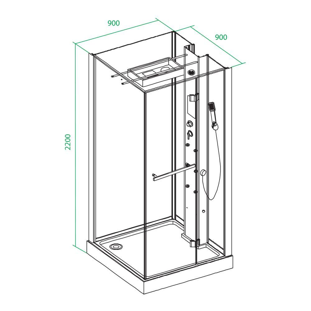 Высота душевой кабины: стандартная и минимальная величина от пола до потолка, какие существуют стандарты параметров, душевая кабинка высотой 200 см с крышей