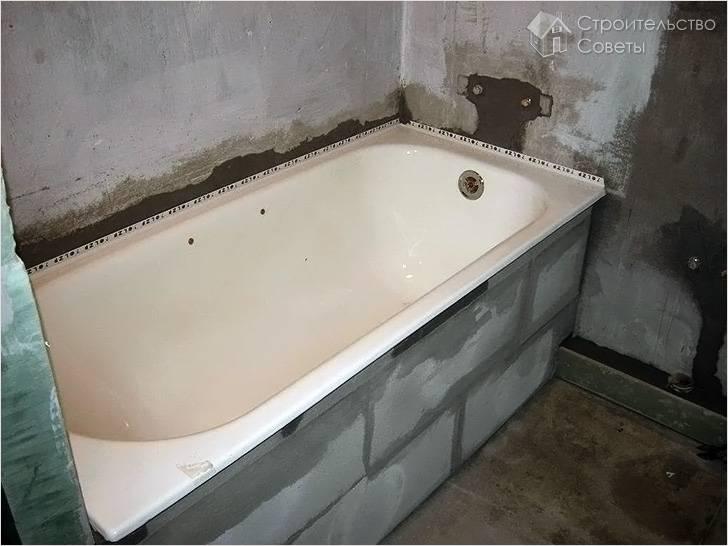 Установка ванны своими руками: делаем это правильно