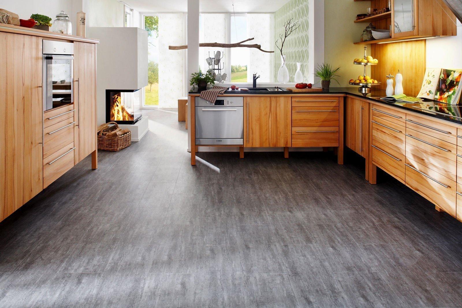 Современное напольное покрытие на кухню в квартире — что выбрать