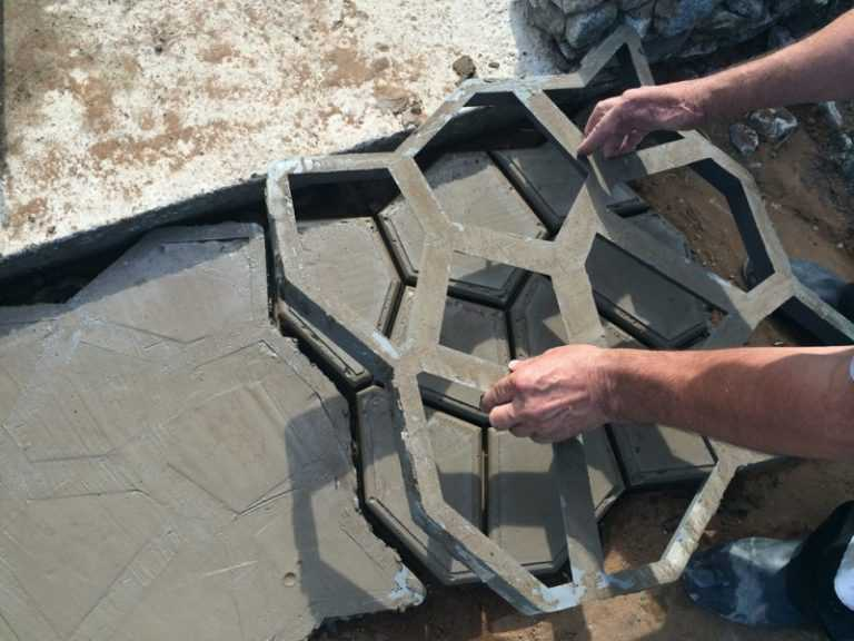 Форма для тротуарной плитки своими руками – советы по изготовлению
