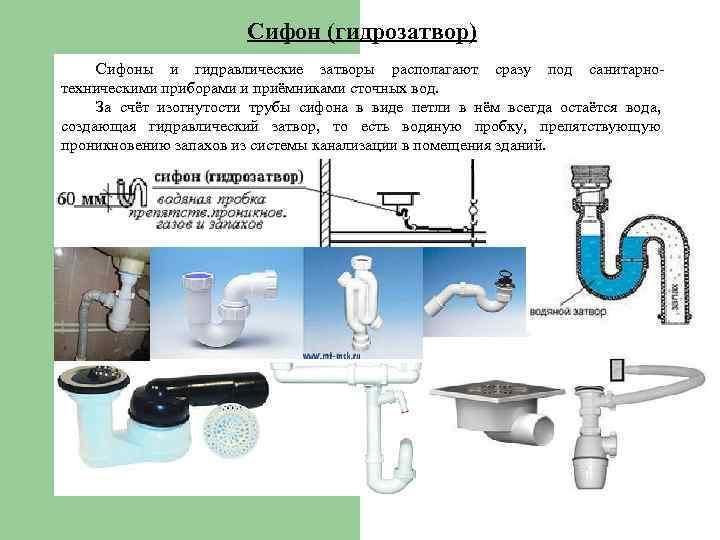 Установка обратного клапана на канализацию: вакуумный + гидрозатвор