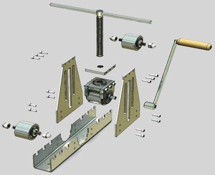 Трубогиб своими руками для профильной трубы: самодельный ручной станок по чертежам