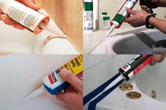 Выбираем лучший герметик для ванной