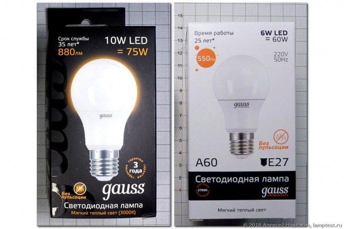 Светодиодные лампы gauss или iek — какие лучше выбрать