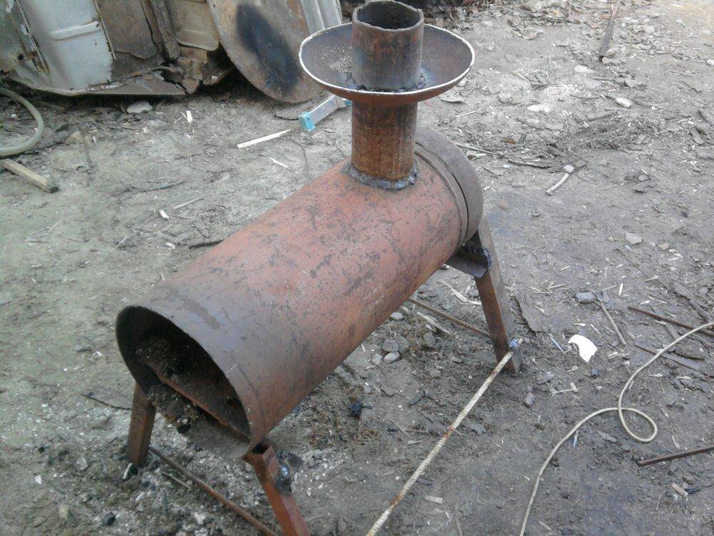 Как самостоятельно сделать буржуйку из газового баллона, работающую на дровах?