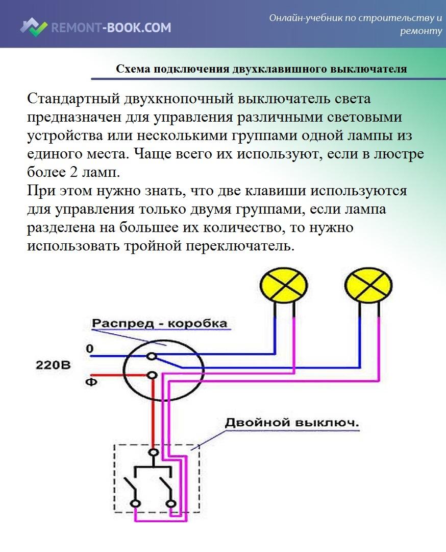 Как подключить люстру к одноклавишному выключателю?