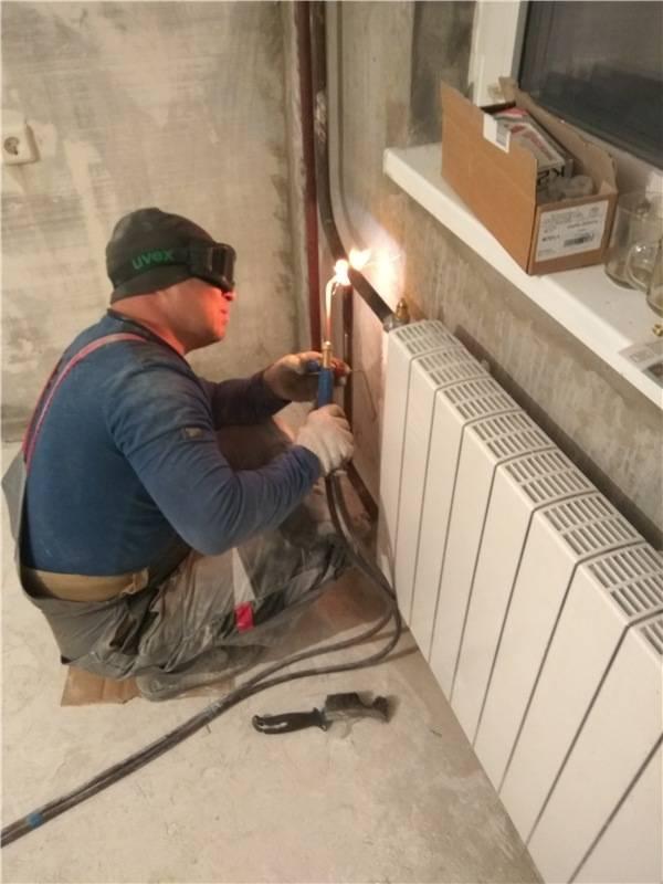Замена радиаторов отопления газосваркой: процесс и инструменты (видео)
