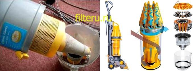 Циклонный фильтр для пылесоса: что это такое, плюсы и минусы