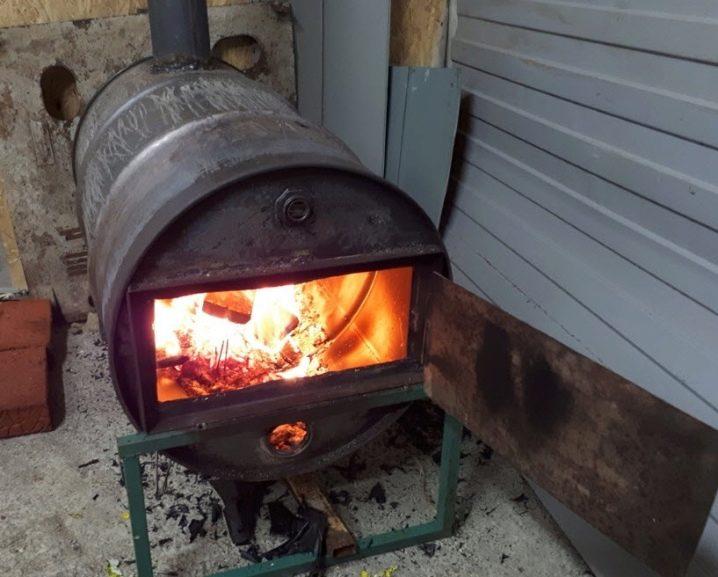 Изготовление печи буржуйки из газового баллона своими руками