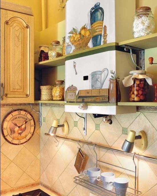 Газовая труба на кухне: декор, короб, как скрыть, обыграть дизайн, как закрыть, маскировка