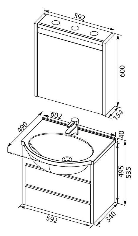 Накладная раковина в ванную