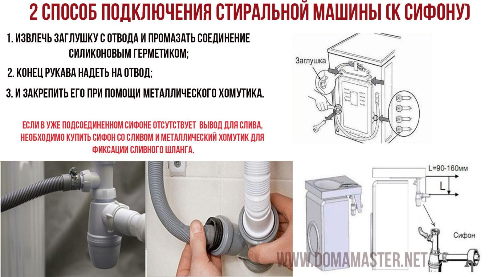 Сифон для раковины под стиральную машину