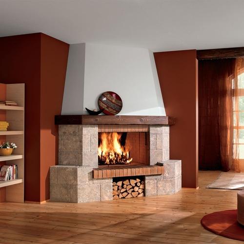 Металлические и кирпичные камина на дровах для дома