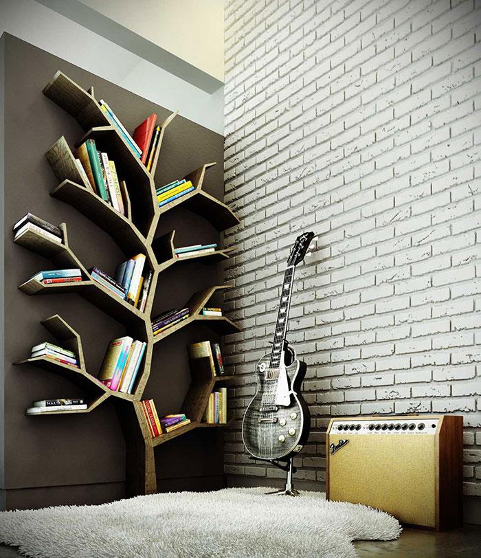 Полки на стену для книг в интерьере: навесные настенные полки своими руками