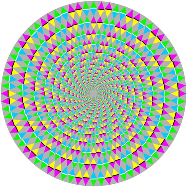 Тест: посмотрите в центр картинки. какой цвет вы видите?