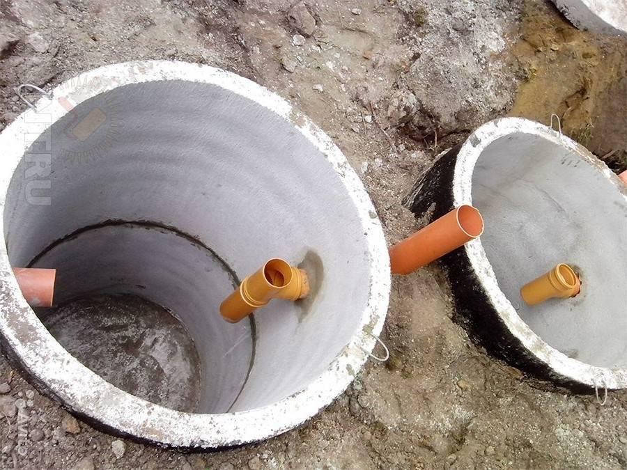 Как устроена канализация из бетонных колец: монтаж своими руками
