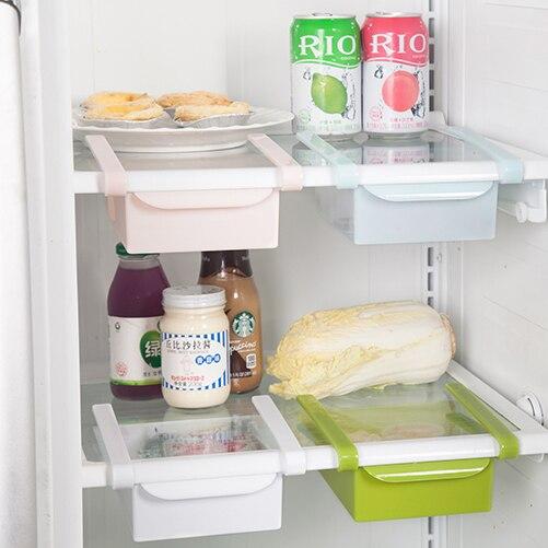 Полки в проёме между холодильником и стеной - страна мам